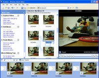 Windows Movie Maker interface