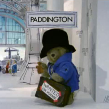 Paddington Bear in episode 1 of the original TV series.
