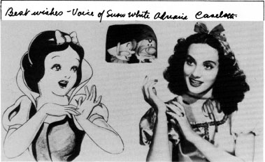 An Early Publicity Still For Snow White And The Seven Dwarfs Signed By Adriana Caselotti Right